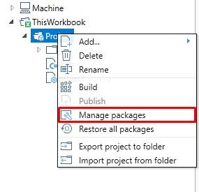 QueryStorm workbook project context menu